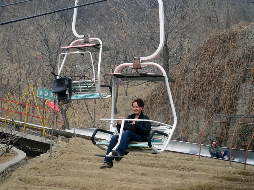 ski-lift at the Great Wall